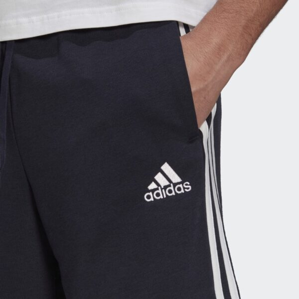 Pantalon_corto_Essentials_French_Terry_3_bandas_Azul_GK9598_41_detail